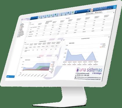 Dashboard Sistema de Gestão Una Sistemas e Tecnologia