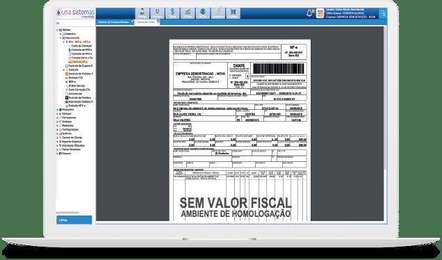 Sistema Emissão de Notas Fiscais